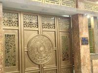 cổng inox .sắt sơn giả đồng